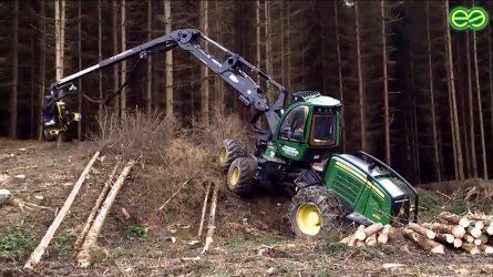 John Deere erdészeti gépek Zalában - Forwarder és harvester gépbemutatót tartott az Öforst