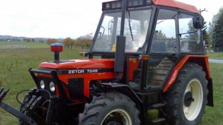 Traktorlopás a felvidéki Bánován - Keresik a Zetor 7245 erőgépet