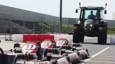 Hürlimann traktorok tesztvezetése a kecskeméti gokart pályán (+VIDEÓ)
