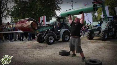 Kramer rakodógépek Nádasi Roland erősember ellen - Valkon Kft. az OMÉK-on