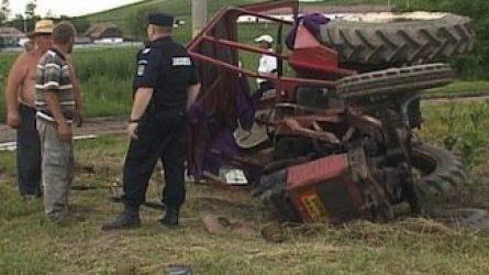 Felborult a traktor, meghalt a vezetője Szatmárban (+KÉP)