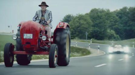 Veterán traktoros videóval üzent a Porsche az Audinak (VIDEÓ)