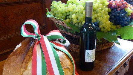 Alföldi kenyér, szőlő és bor