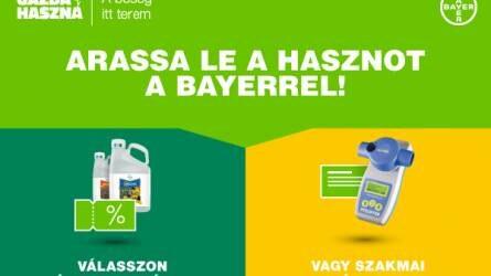 Kedvezmények közvetlenül a felhasználóknak - Arassa le Ön is a hasznot a Bayer-rel!