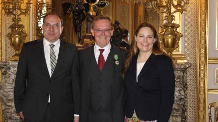 Lothar Kriszun megkapta az Ordre du Mérite Agricole érdemrendet