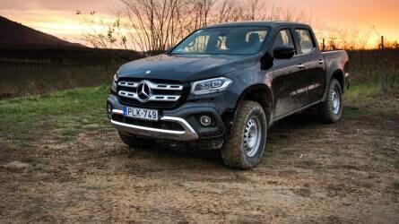 Nappal szántóföld, este opera - Mercedes-Benz X-osztály
