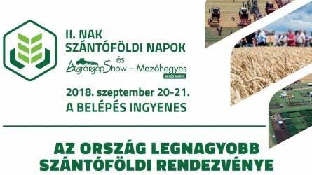 Szakmai konferenciák a II. Nak Szántóföldi Napok és Agrárgépshow-n Mezőhegyesen
