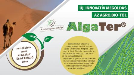 Az első lépés lehet az aszály és az erózió ellen - Új, innovatív megoldás az AGRO.bio–tól: AlgaTer