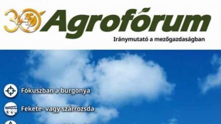 Már megjelent az áprilisi Agrofórum!