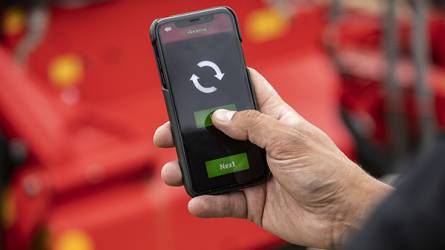 E-Control Mobile alkalmazással kalibrálható Väderstad vetőgépek